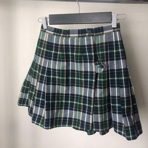 Vintage plaid school girl skirt